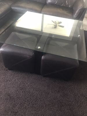 Coffee table with four chairs for Sale in Glendale, CA