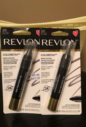 Revlon colorstay soft black brow crayon $2 each for Sale in Hamburg, NY