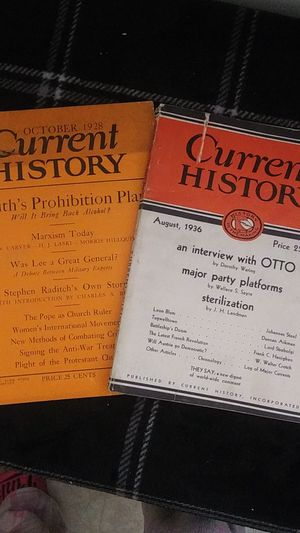 Current History Magazines for Sale in Chandler, IN