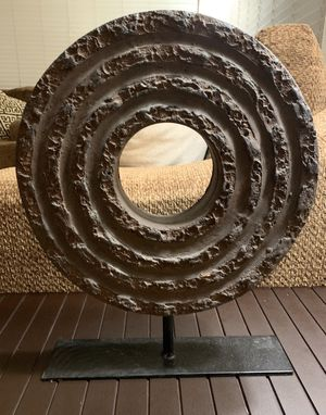 Decorative stone wheel mantle piece for Sale in Bellflower, CA