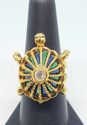 Designer Hutton Wilkinson Nautical Turtle Sz 8 Ring for Sale in Ocala, FL