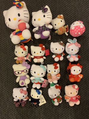 Hello kitty plush animals for Sale in PECK SLIP, NY