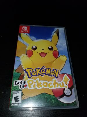 Let's go Pikachu nintendo switch for Sale in Seattle, WA