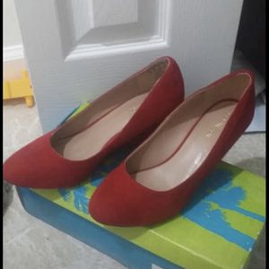 Red suede wedges sandals women's shoes sandals for Sale in Silver Spring, MD