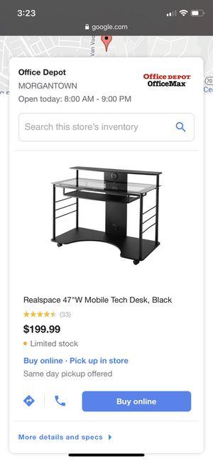 Desk Never used for Sale in Morgantown, WV