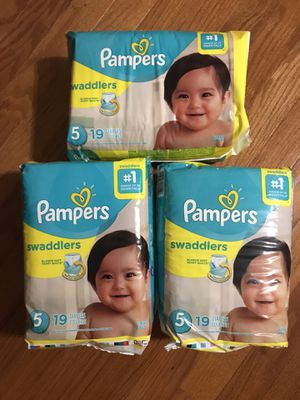 Pampers swaddlers x 3 for Sale in Kensington, MD