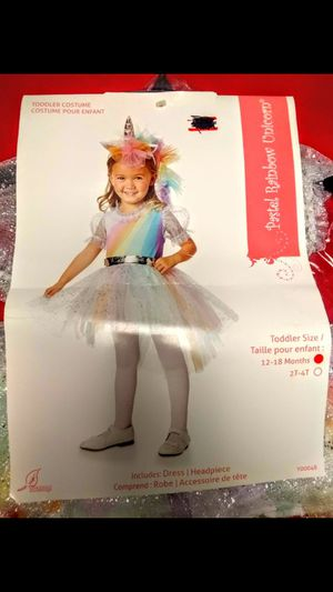 Toddler Rainbow Unicorn Costume. for Sale in Salt Lake City, UT