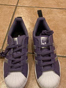 BNIB Violet Adidas Superstar wmns 6.5 for Sale in Vienna,  VA