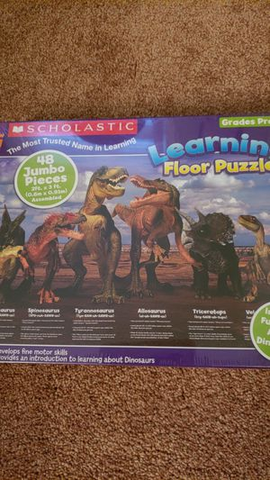 Scholastic Dinosaur Learning Puzzle NEW 48 pieces for Sale in Alexandria, VA