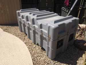 """Hardigg Pelican 56""""x26""""x24 Military Shipping & Storage Case / Container with forklift wells and removable lid. for Sale in Peoria, AZ"""