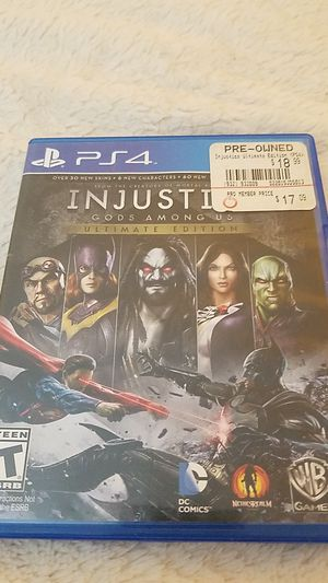 PS4 Injustice game disc (pre owned) for Sale in Wauconda, IL