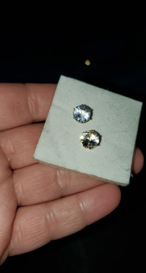 18K Cubic Zirconia Earrings for Sale in Binghamton, NY