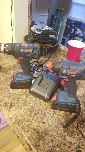Bosch gdx18v-1600 and drill for Sale in Cincinnati, OH