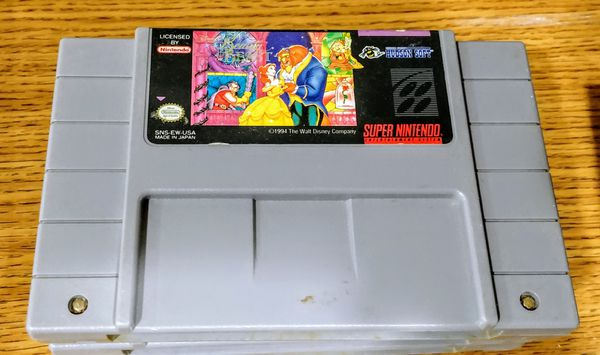 Super Nintendo Beauty and the Beast Game