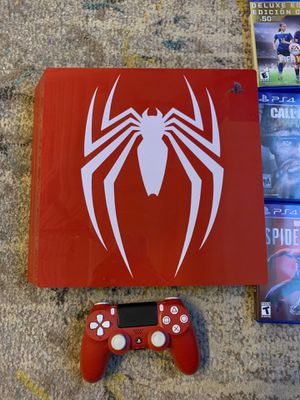 PS4 Spiderman Edition, all games included with red controller for Sale in San Francisco, CA