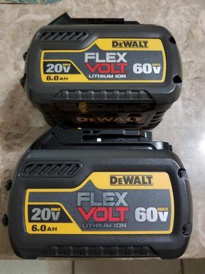 20/60v New Dewalt FlexVolt Batteries for Sale in Dallas, TX