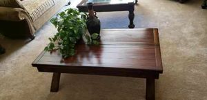 Solid wood Coffee/ game table with side table for Sale in Corona, CA
