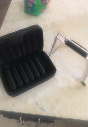 7 piece harmonica set with hands free holder for playing guitar for Sale in Scottsdale, AZ