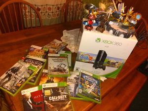 New in box Xbox360 slim 11games 7 portal creatures 3controllers an Kinect for Sale in Malta, OH