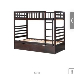 Twin Bunk Bed With Trundle for Sale in Aurora, IL