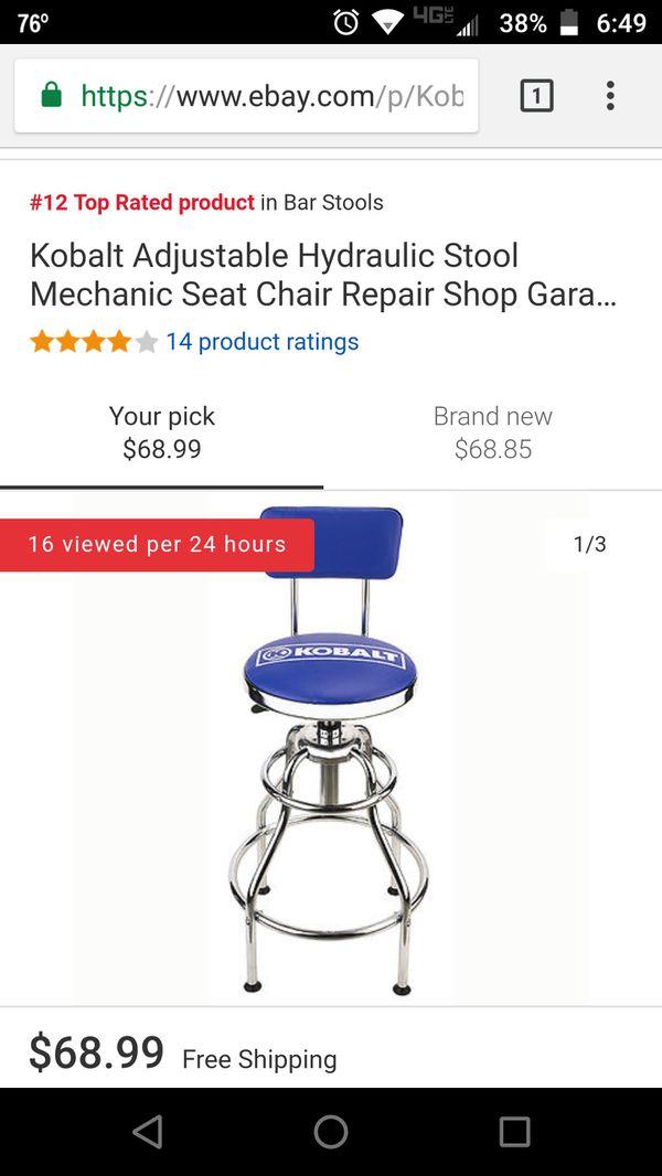 Terrific Kobalt Adjustable Hydraulic Bar Stools For Sale In Mansfield Machost Co Dining Chair Design Ideas Machostcouk