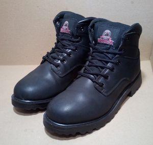 Black Leather Brahma Steel-Toe Work Boots for Sale in Fairfield, CA
