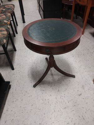 Small Antique Three leg Accent Table. Many uses with Three draws. for Sale in Ellenwood, GA