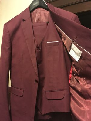 Men's 3 Piece Suit - medium wine maroon burgundy (capitol hill) for Sale in Denver, CO
