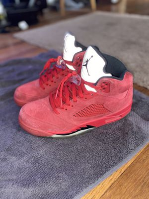 Jordan 5 retro red suede. Size 9.5 for Sale in South Euclid, OH