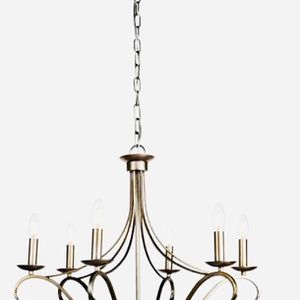 6 Lights Antique Silver Chandelier Ceiling Light for Sale in Richmond, TX