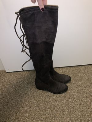 Dark grey thigh high boots for Sale in Sherwood, OR