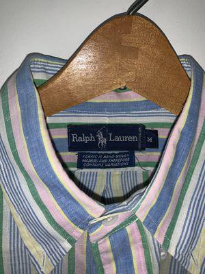 Vintage Men's Ralph Lauren Polo shirt. Size: M, Color: Multi , Design: Long Sleeve for Sale in Washington, DC