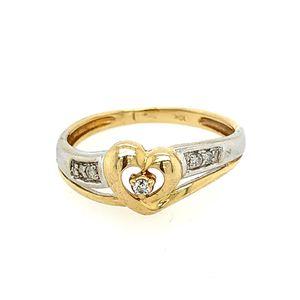 10k heart diamond ring for Sale in Alexandria, VA