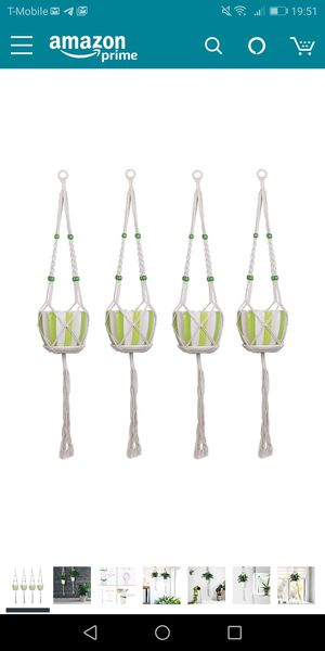 Macrame plant hangers 4pk- new for Sale in Naperville, IL
