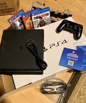 PS4 slim 1TB with controller, 3 games. Excellent condition for Sale in Columbia, SC