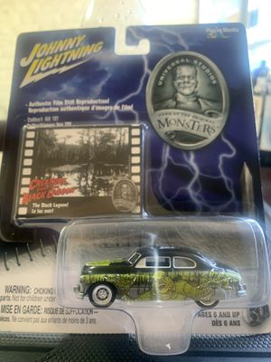 JOHNNY LIGHTNING '49 MERCURY Universal Studios Creature Black Lagoon MOC 2004 for Sale in Fresno, CA