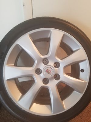 17 in. Cadillac rim an tires for Sale in Newport News, VA