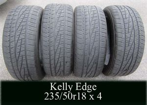 KELLY EDGE 235/50r18 set of FOUR tires for Sale in West Warwick, RI