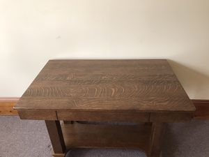 Antique oak Mission/Empire style library table desk for Sale in Saint Charles, MO