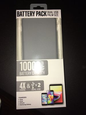 10,000 mAh Cell Phone Portable Battery Pack/ Power Bank - 2 Full Phone Charges!! for Sale in Decatur, TX