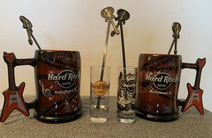 Hard Rock Hotel cafe guitar coffee mug shot glass for Sale in Coral Springs, FL