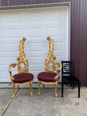 Ornate fancy Chairs $500 each for Sale in Shamong, NJ