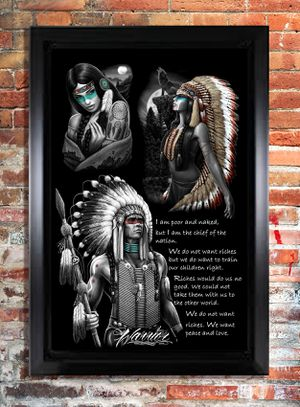 Native American Indian Picture Frame for Sale in Westminster, CA