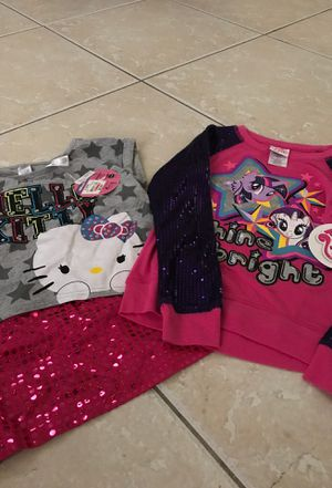 New with tags hello kitty and my little pony size 6/7 for Sale in Davie, FL
