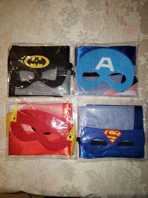New Batman, Superman, Flash and Captain America mask & cape for Sale in Arlington, TX