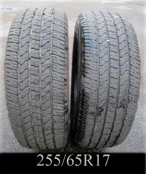 PAIR - GOODYEAR WRANGLER 255/65R17 tires for Sale in Warwick, RI