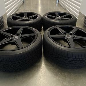 Bmw 5x120 Wheels Kmc Black Staggered Size 19 for Sale in Manassas, VA