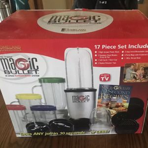 Magic Bullet Hi Speed Blender & Mixer System, 17 Piece And Bonus Juicer (all New) In Box for Sale in Glendale, CA