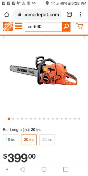 ECHO 20 in. 59.8 cc Gas 2-Stroke Cycle Chainsaw for Sale in Modesto, CA