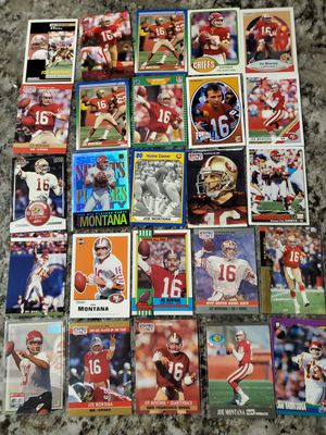 Lot of 25 JOE MONTANA CARDS for all for $25 for Sale in Clovis, CA